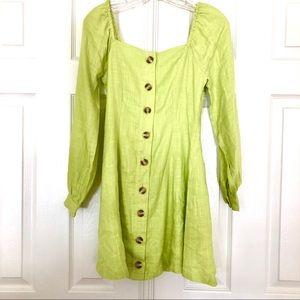Lost + Wander Neon Green Dress